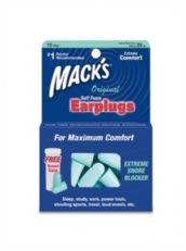 Mack's Original Soft Foam Plugs - 10 Pair Pack with Free Travel Case